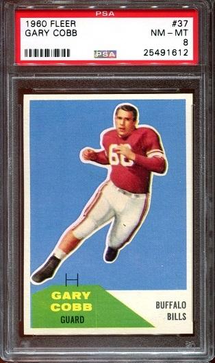 1960 Fleer #37 - Gary Cobb - PSA 8