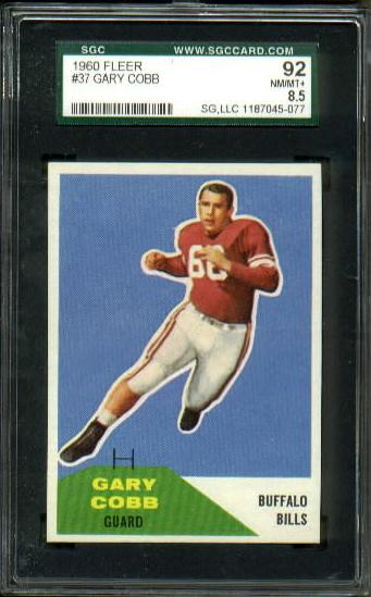 1960 Fleer #37 - Gary Cobb - SGC 92