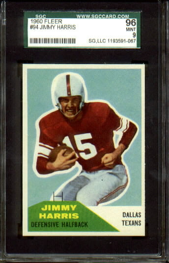 1960 Fleer #94 - Jimmy Harris - SGC 96
