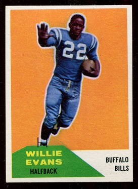 1960 Fleer #65 - Willie Evans - nm