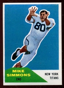 1960 Fleer #68 - Mike Simmons - nm