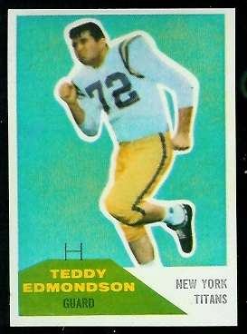 1960 Fleer #91 - Teddy Edmondson - nm+