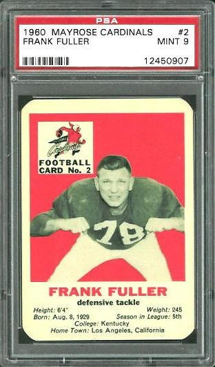 1960 Mayrose Cardinals #2 - Frank Fuller - PSA 9