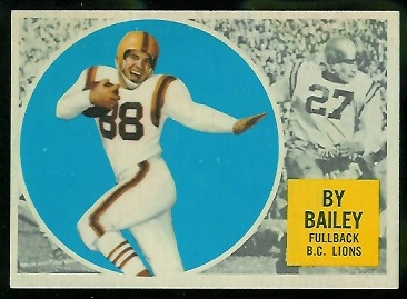 1960 Topps CFL #1 - By Bailey - g