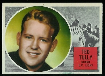 1960 Topps CFL #10 - Ted Tully - nm