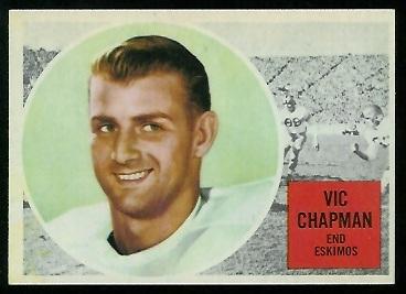 1960 Topps CFL #11 - Vic Chapman - nm