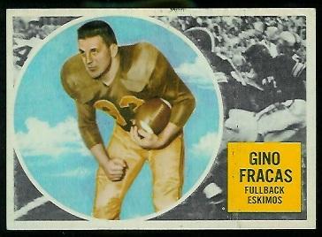 1960 Topps CFL #12 - Gino Fracas - vg