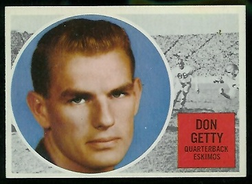 1960 Topps CFL #13 - Don Getty - nm