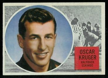 1960 Topps CFL #15 - Oscar Kruger - vg-ex