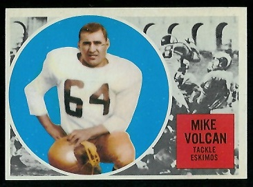 1960 Topps CFL #19 - Mike Volcan - nm