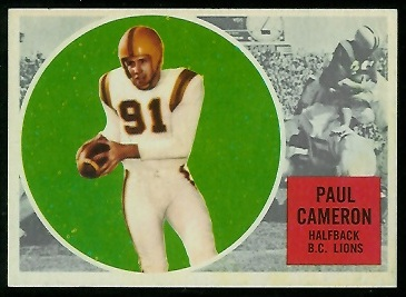 1960 Topps CFL #2 - Paul Cameron - nm