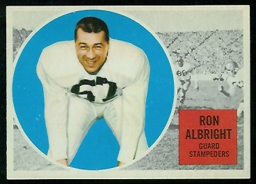 1960 Topps CFL #21 - Ron Allbright - nm