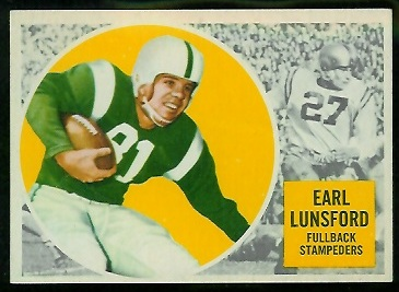 1960 Topps CFL #26 - Earl Lunsford - ex+