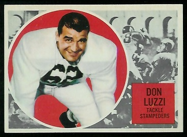 1960 Topps CFL #27 - Don Luzzi - exmt