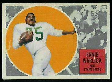 1960 Topps CFL #30 - Ernie Warlick - ex