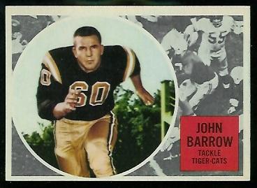 1960 Topps CFL #31 - John Barrow - exmt