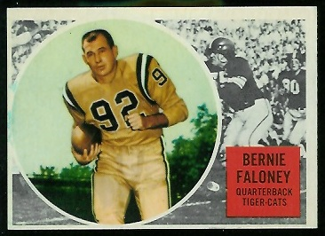 1960 Topps CFL #33 - Bernie Faloney - nm oc