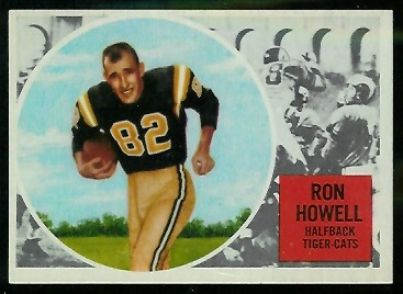 1960 Topps CFL #36 - Ron Howell - vg-ex