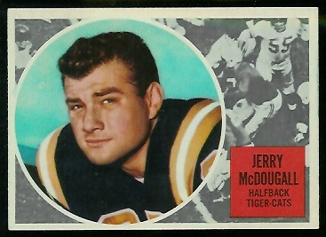 1960 Topps CFL #37 - Gerry McDougall - ex