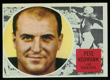 1960 Topps CFL #39 - Pete Neumann - ex
