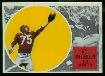 1960 Topps CFL #46 - Hal Patterson - ex