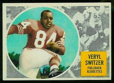 1960 Topps CFL #48 - Veryl Switzer - nm