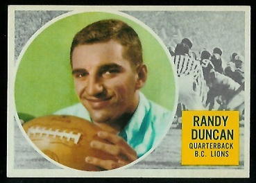 1960 Topps CFL #5 - Randy Duncan - nm