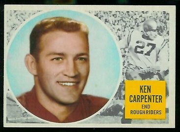 1960 Topps CFL #52 - Ken Carpenter - nm