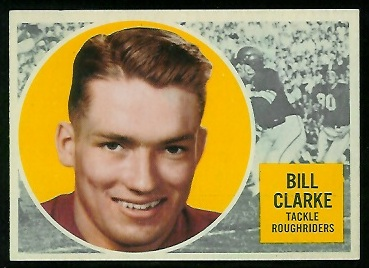 1960 Topps CFL #53 - Bill Clarke - nm
