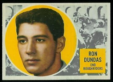 1960 Topps CFL #54 - Ron Dundas - exmt