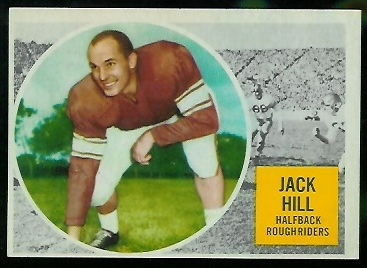 1960 Topps CFL #56 - Jack Hill - nm oc