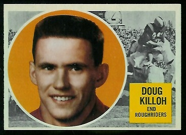1960 Topps CFL #57 - Doug Killoh - nm+ oc