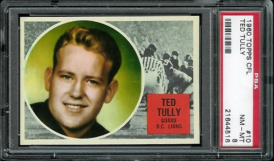 1960 Topps CFL #10 - Ted Tully - PSA 8