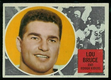 1960 Topps CFL #61 - Lou Bruce - exmt