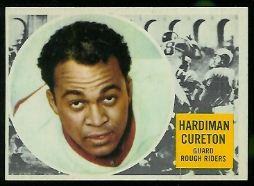 1960 Topps CFL #62 - Hardiman Cureton - exmt