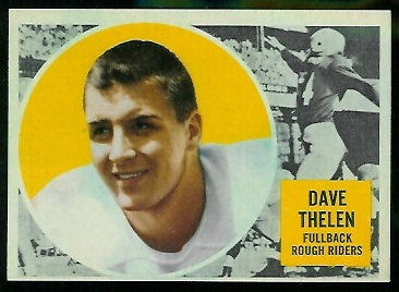 1960 Topps CFL #67 - Dave Thelen - nm-mt oc
