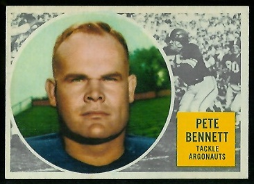 1960 Topps CFL #69 - Pete Bennett - nm+