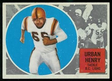 1960 Topps CFL #7 - Urban Henry - nm