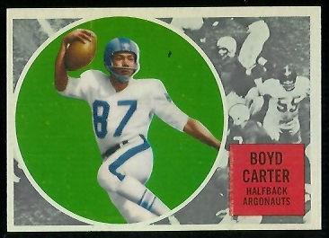 1960 Topps CFL #70 - Boyd Carter - nm