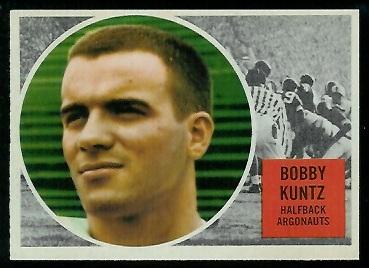 1960 Topps CFL #72 - Bobby Kuntz - nm