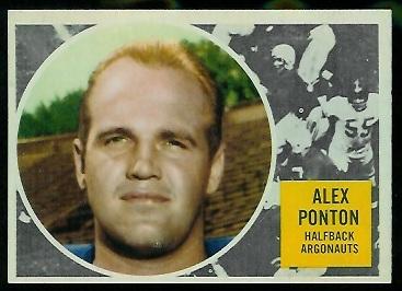 1960 Topps CFL #73 - Alex Ponton - nm