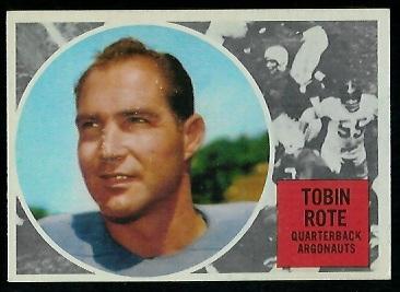 1960 Topps CFL #74 - Tobin Rote - ex