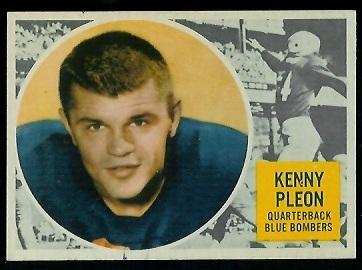 1960 Topps CFL #84 - Ken Ploen - ex