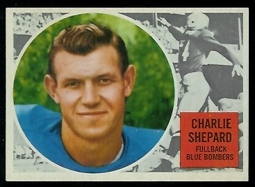 1960 Topps CFL #87 - Charlie Shepard - nm+