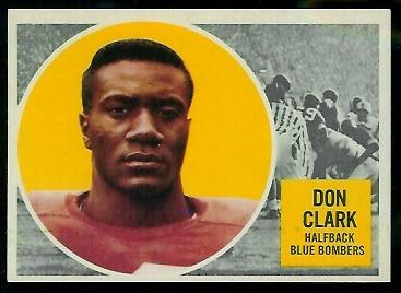 1960 Topps CFL #88 - Don Clark - exmt