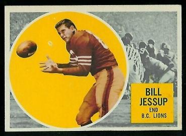 1960 Topps CFL #9 - Bill Jessup - vg