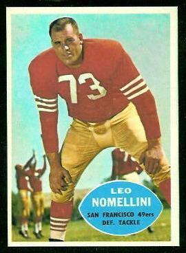 1960 Topps #121 - Leo Nomellini - nm