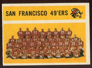 1960 Topps #122 - San Francisco 49ers Team - exmt