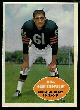 1960 Topps #18 - Bill George - nm