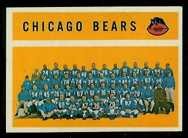 1960 Topps #21 - Chicago Bears Team - nm